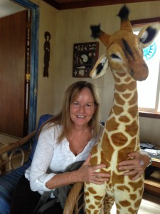 Sue and giraffe